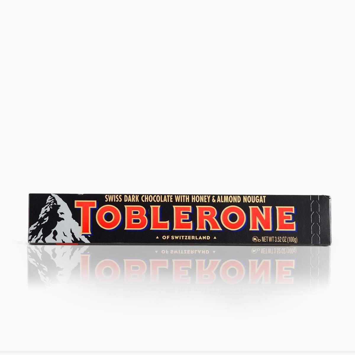 Toblerone horká čokoláda s medovo-mandľovým nugátom 100g