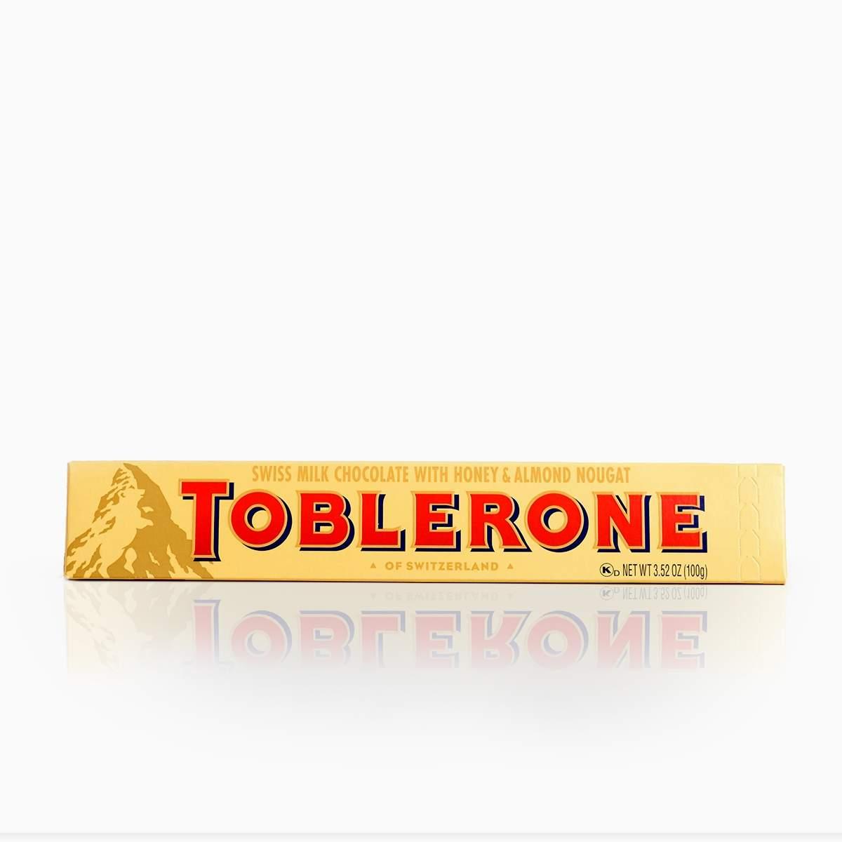Toblerone mliečna čokoláda s medovo-mandľovým nugátom 100g