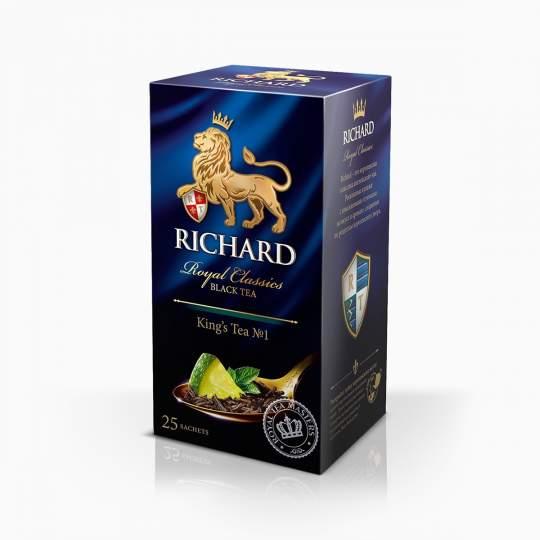 Richard King's Tea čierny čaj s mätou a limetkou vreckový 50g