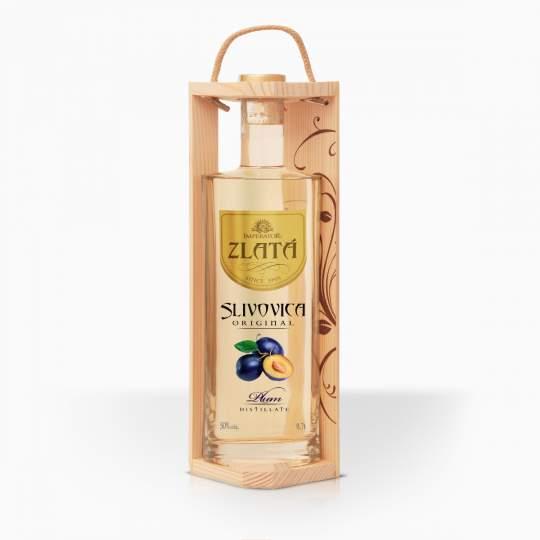 Destilát Imperator Slivovica Zlata v darčekovej kazete 50% 0,7l