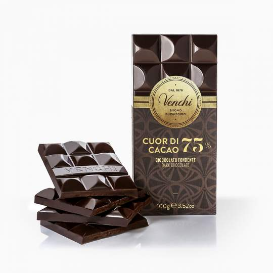 Venchi horká čokoláda 75% 100g