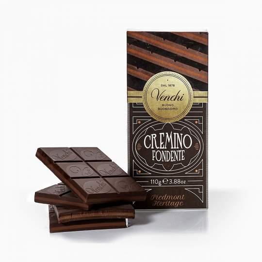 Venchi horká čokoláda s nugátom 100g