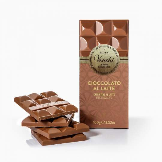 Venchi Cuor Di Latte Extra Fine Milk Chocolate Bar 110g