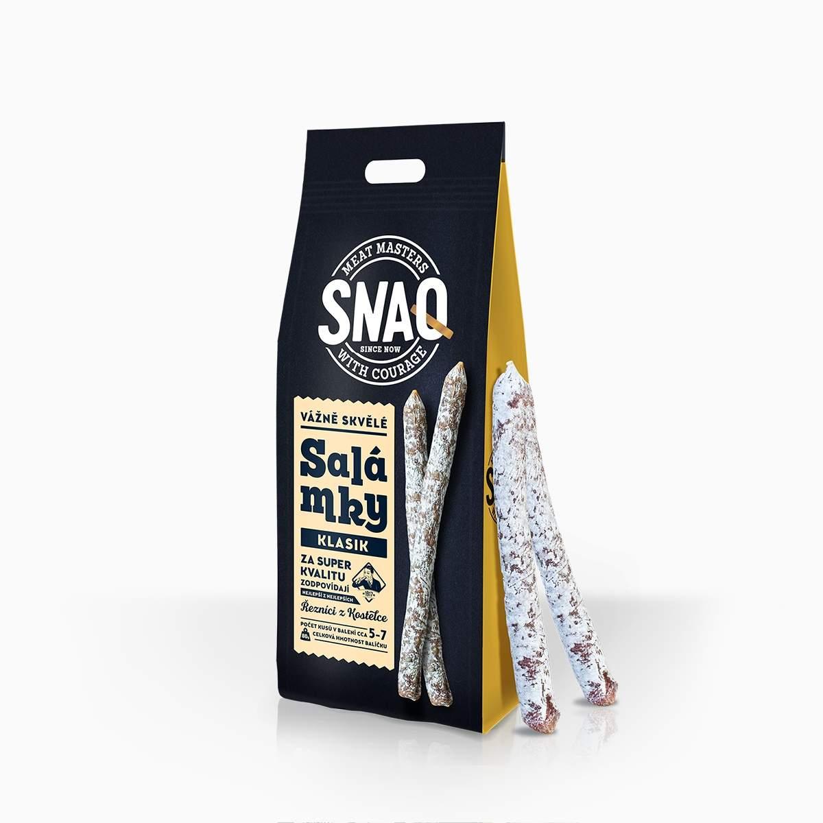 Kostelecké uzeniny Snaq mini klobásky 60g