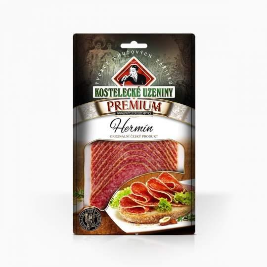 Kostelecké Uzeniny Premium Salame Hermín White Mold Sliced 80g