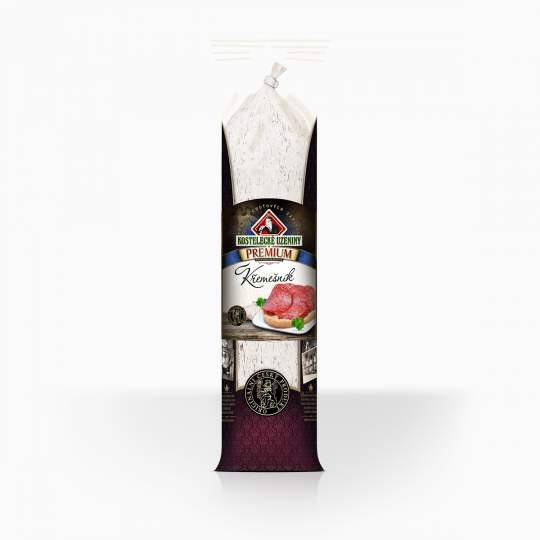 Kostelecké Uzeniny Premium saláma Křemešník s bielou plesňou 380g