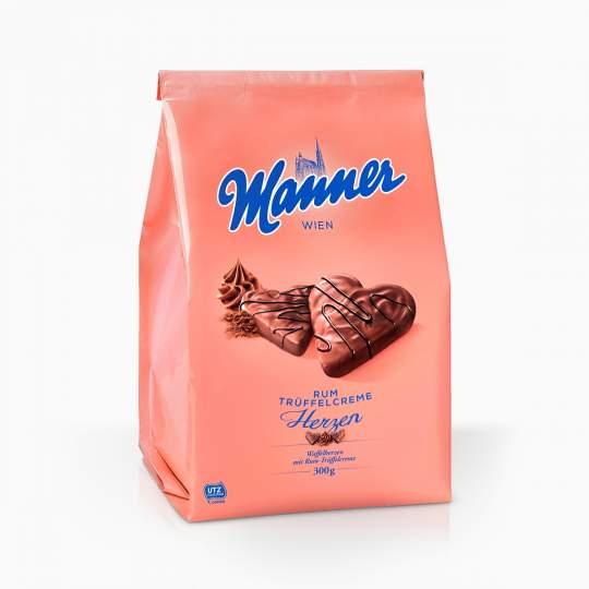 Manner oblátky s rumovou príchuťou celomáčané v mliečnej čokoláde 300g