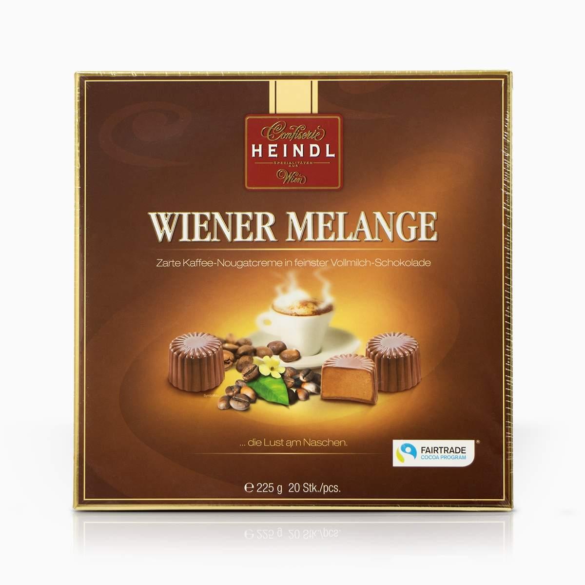Heindl Wiener Melange jemný nugát v mliečnej čokoláde 225g