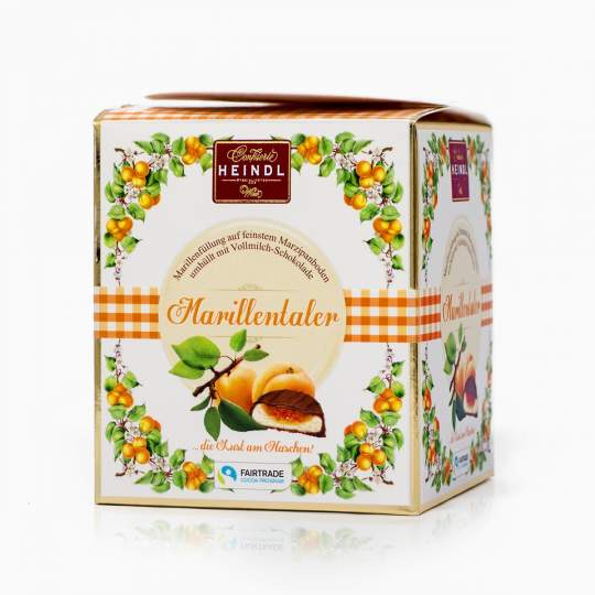 Heindl Marillentaler marcipánový krém s marhuľovou náplňou v mliečnej čokoláde 175g
