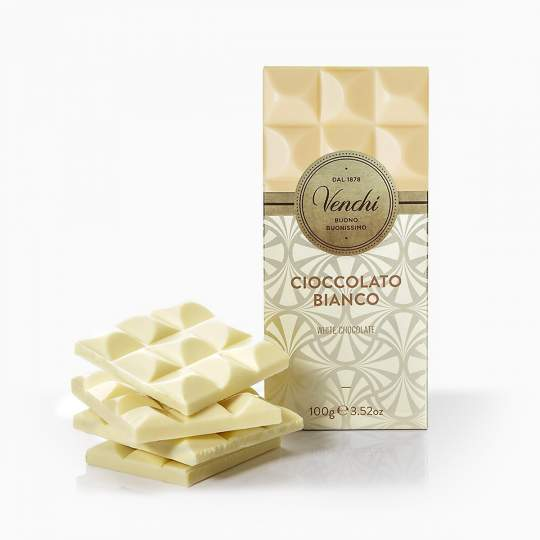 Venchi White Chocolate Bar 100g
