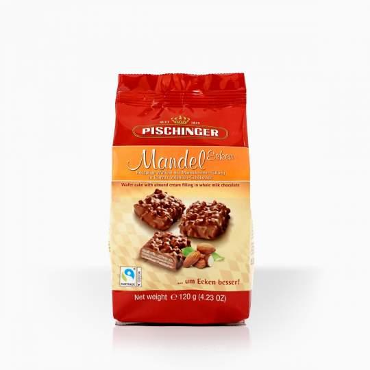 Pischinger oblátky plnené mandľovým krémom v mliečnej čokoláde 120g