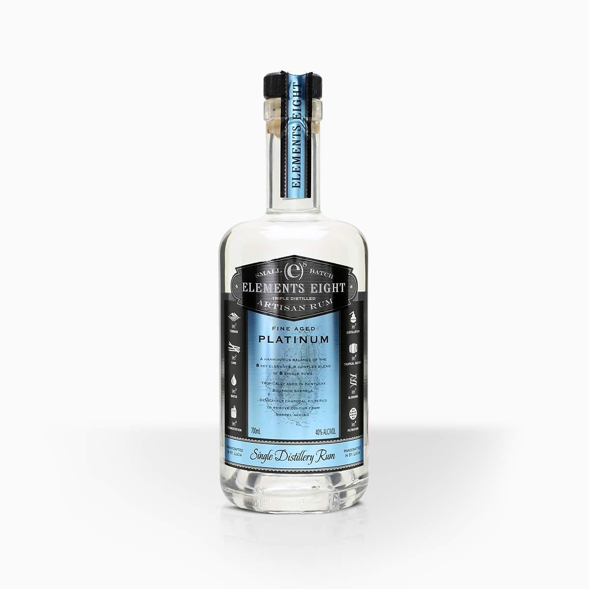 Rum Elements 8 Platinum 40% 0,7l