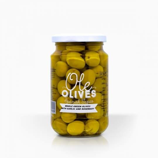 Ole Olives Garlic Rosemary 370g