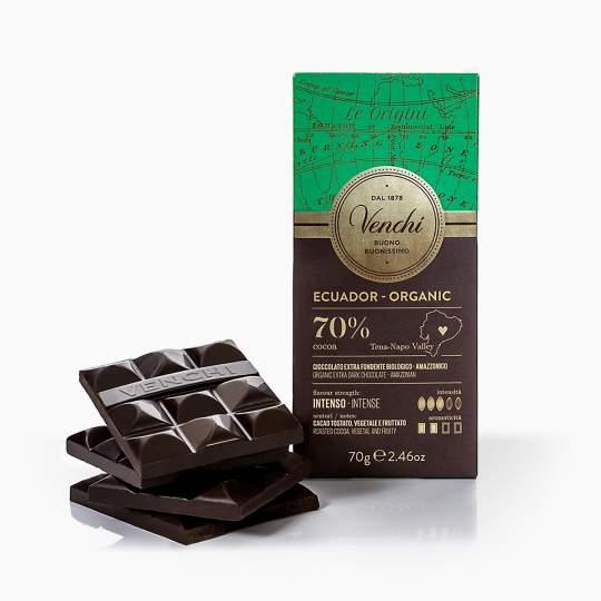 Venchi Ecuador organická 70% čokoláda 70g