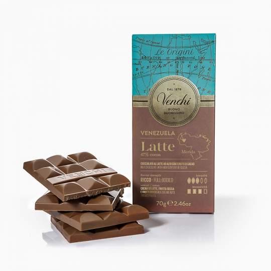 Venchi Venezuela mliečna čokoláda 70g