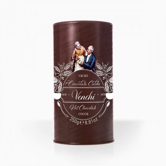 Venchi horúca čokoláda v ozdobnej kovovej dóze 250g