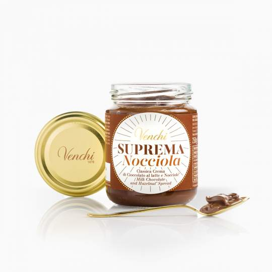 Venchi krém z čokolády s lieskovými orieškami a olivovým olejom 250g