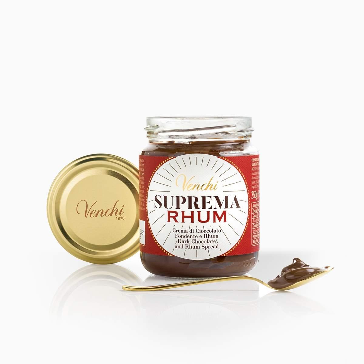 Venchi krém z horkej čokolády s rumom a olivovým olejom 250g