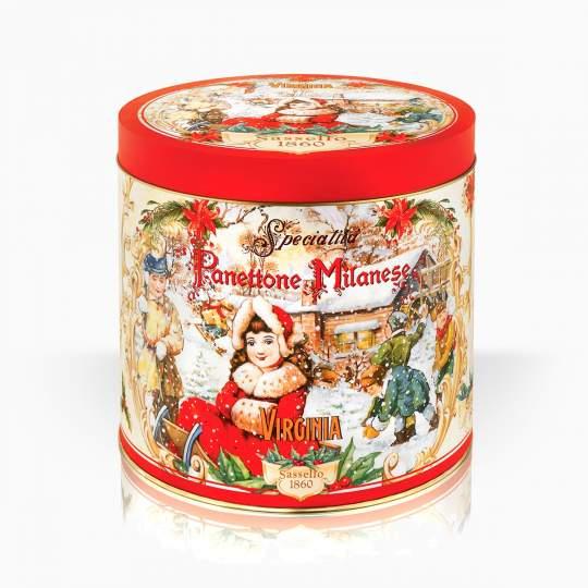 Viriginia tradičný Panettone v darčekovej dóze 1000g