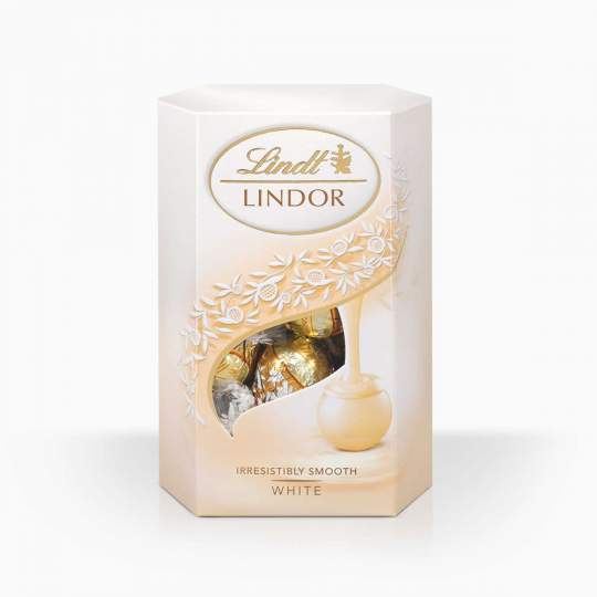 Lindor bonbóny z bielej čokolády s jemnou krémovou náplňou 200g