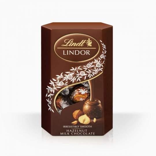 Lindor bonbóny z mliečnej čokolády s lieskovoorieškovou náplňou 200g