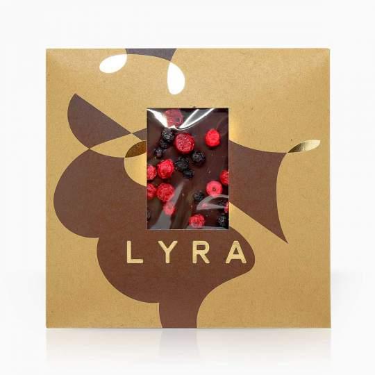 Lyra horká čokoláda s mrazom sušeným ovocím 80g