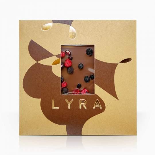 Lyra mliečna čokoláda s mrazom sušeným ovocím 80g