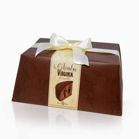 Virginia veľkonočná colomba s čokoládovým krémom a čokoládovámi kúskami posypaná kakaovým práškom 850g