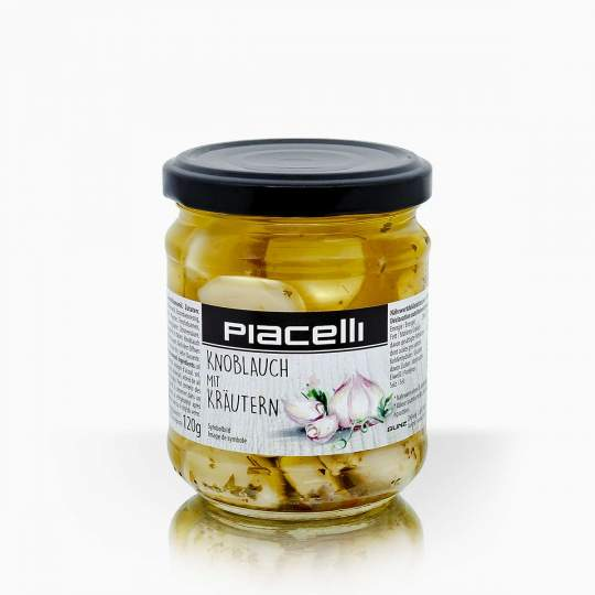 Piacelli cesnak s bylinkami nakladaný v slnečnicovom oleji 190g