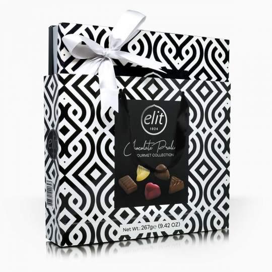 Elit Black and White Collection kolekcia čokoládových praliniek 267g