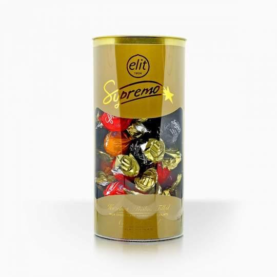 Elit Supremo čokoládové pralinky s lieskoovorieškovou a karamelovou náplňou 350g