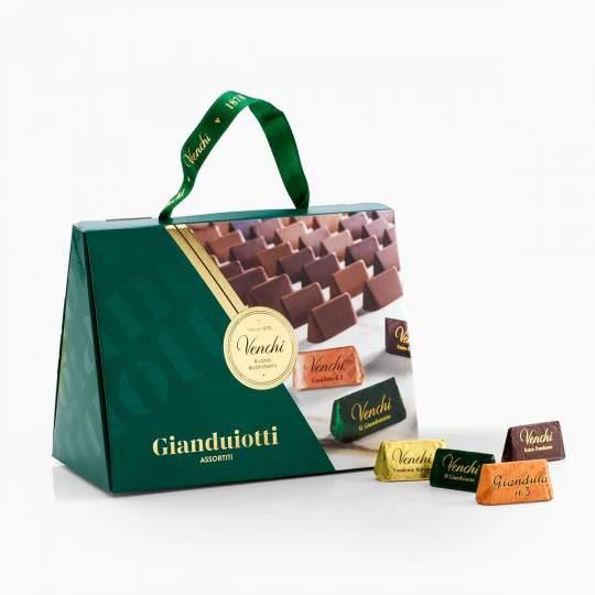 Venchi darčeková taška s bonbónami Gianduiotti 150g