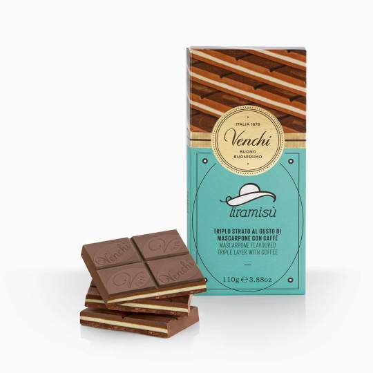 Venchi Tiramisu čokoláda s príchuťou mascarpone a kávy 110g