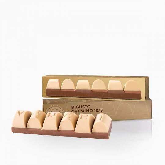 Venchi nugátová mliečna čokoláda a biela čokoláda s lieskovoorieškovou pastou 170g