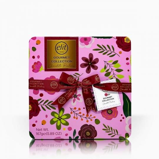 Elit Gourmet Collection výber praliniek v ozdobnej plechovke 167g