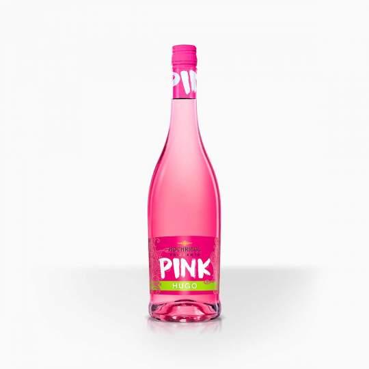 Šumivé víno s chuťou bazy Hochriegl Frizzante Pink Hugo 5,8% 0,75l