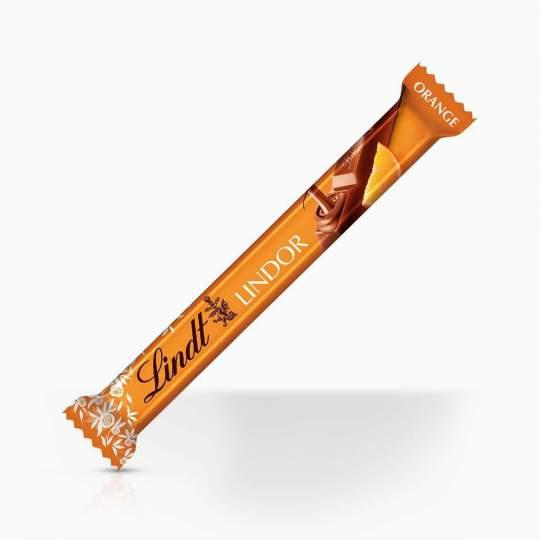 Lindor mliečna čokoládová tyčinka s krémovou pomarančovou náplňou 38g