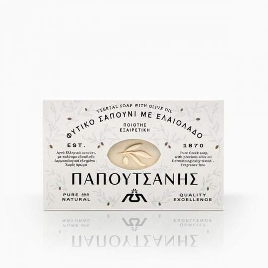 Papoutsanis prírodné olivové grécke mydlo biele 125g