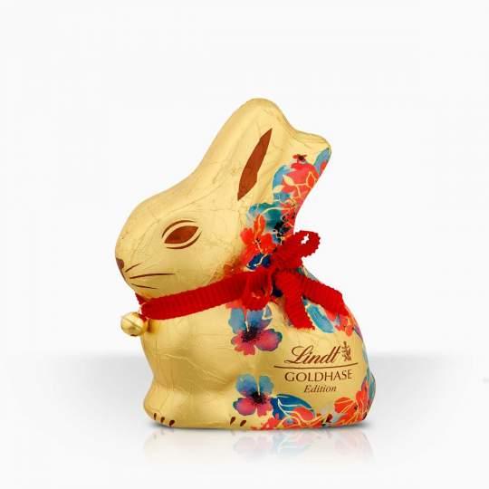 Lindt Gold Bunny Flower duté figúrky z mliečnej čokolády 100g