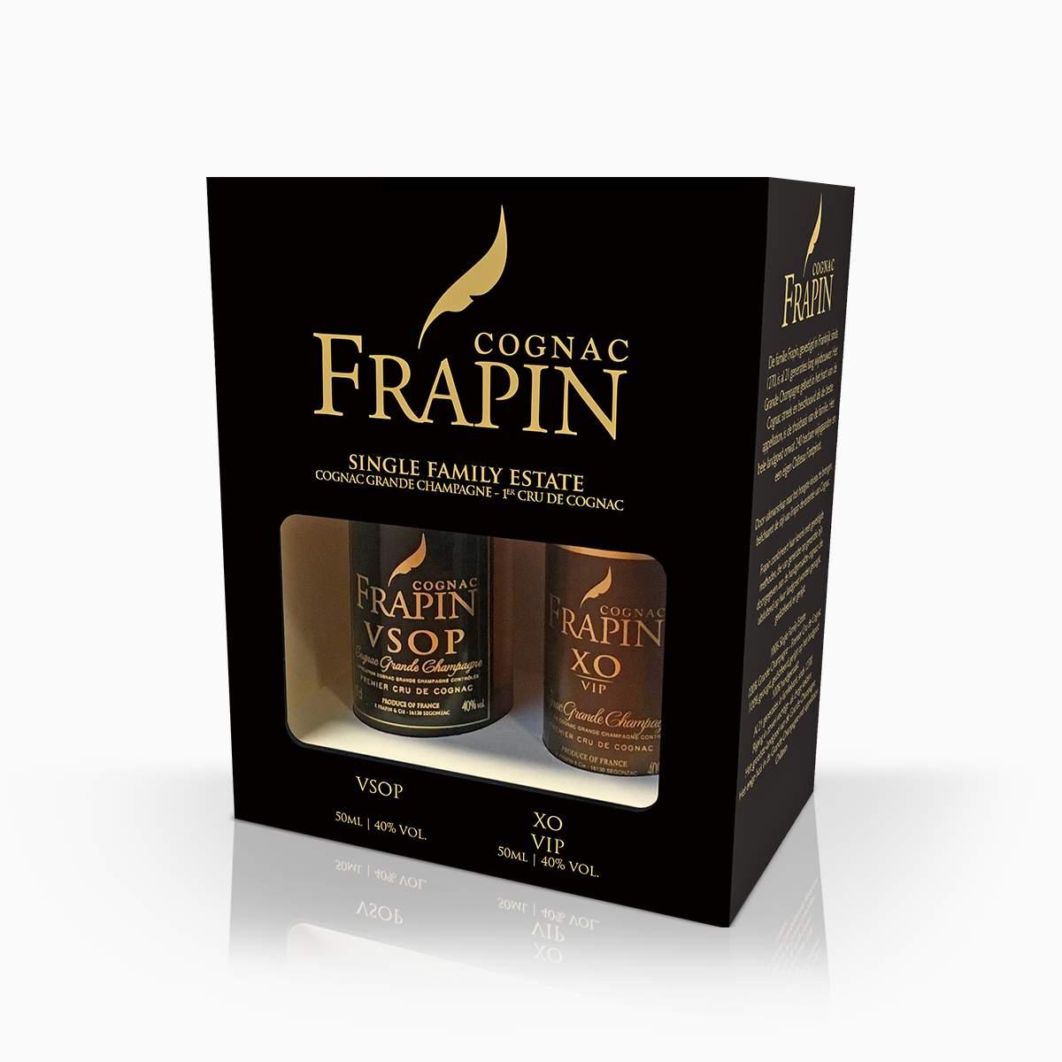 Koňak Mini Set Frapin 40% 0,1l