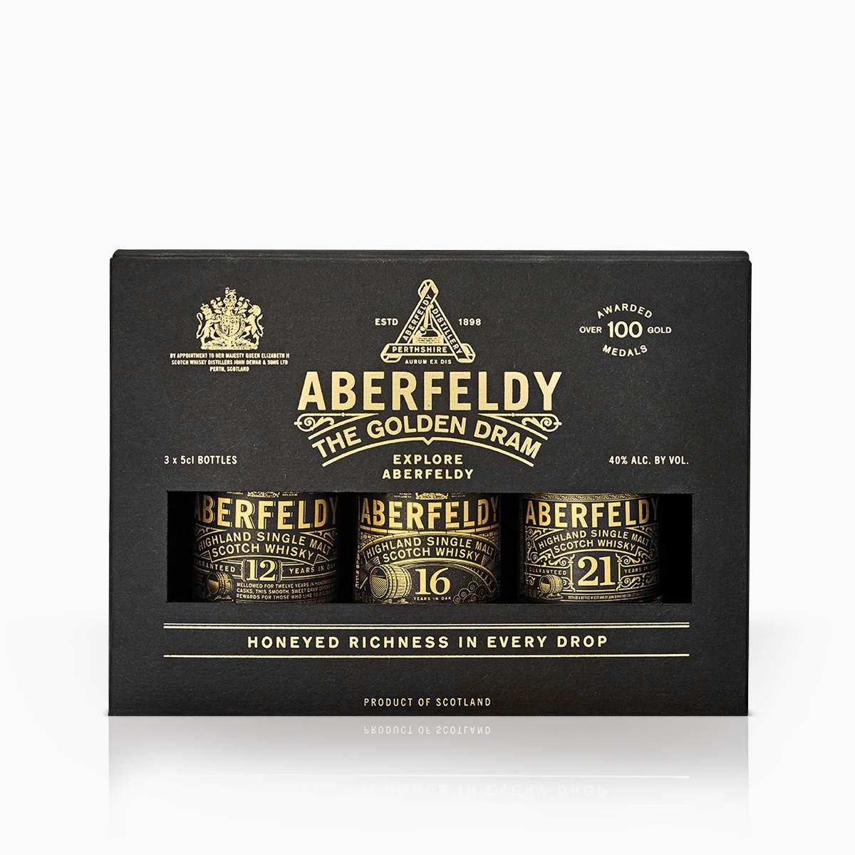 Whisky Mini Set Aberfeldy 40% 0,15l