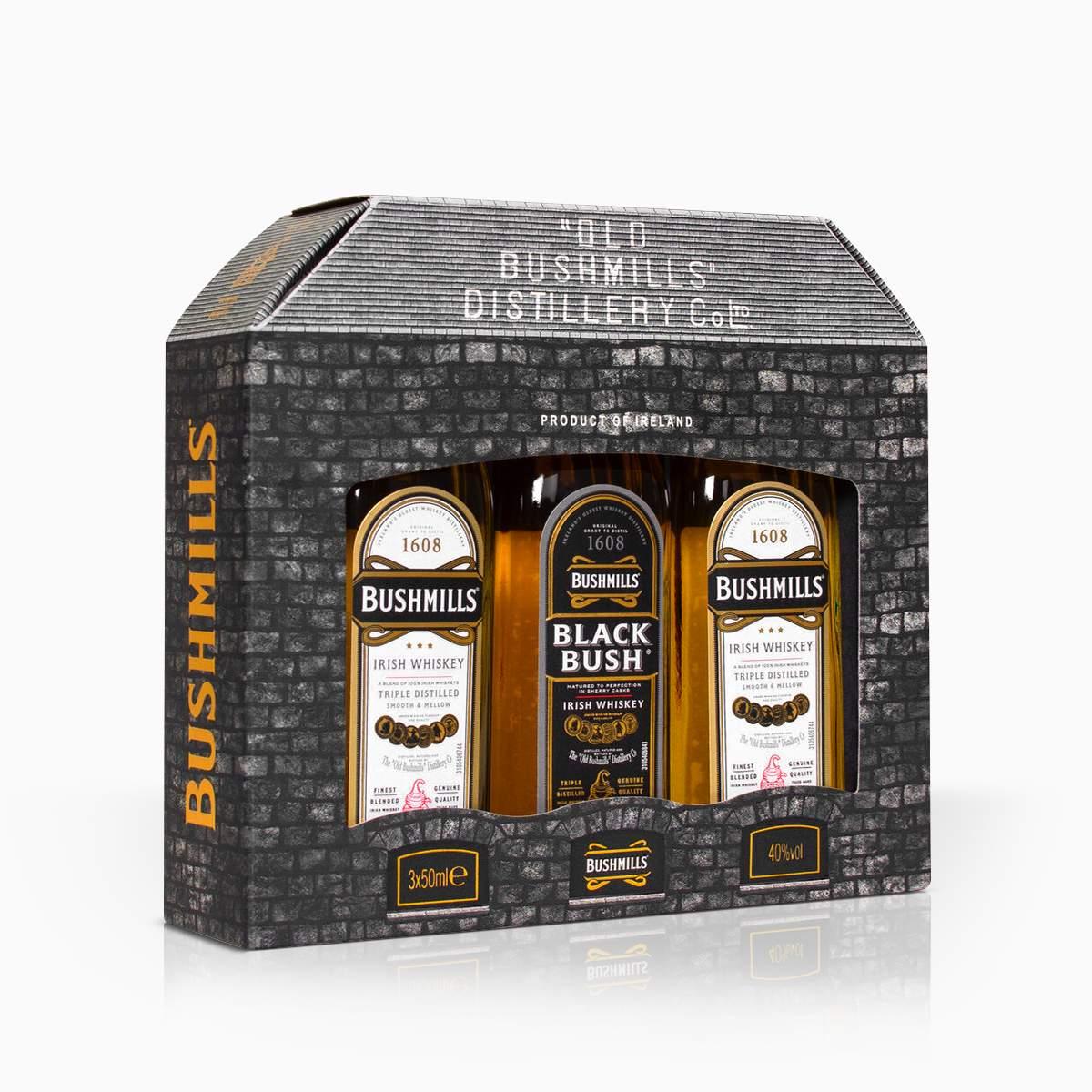 Whisky Mini Set Bushmills 40% 0,15l
