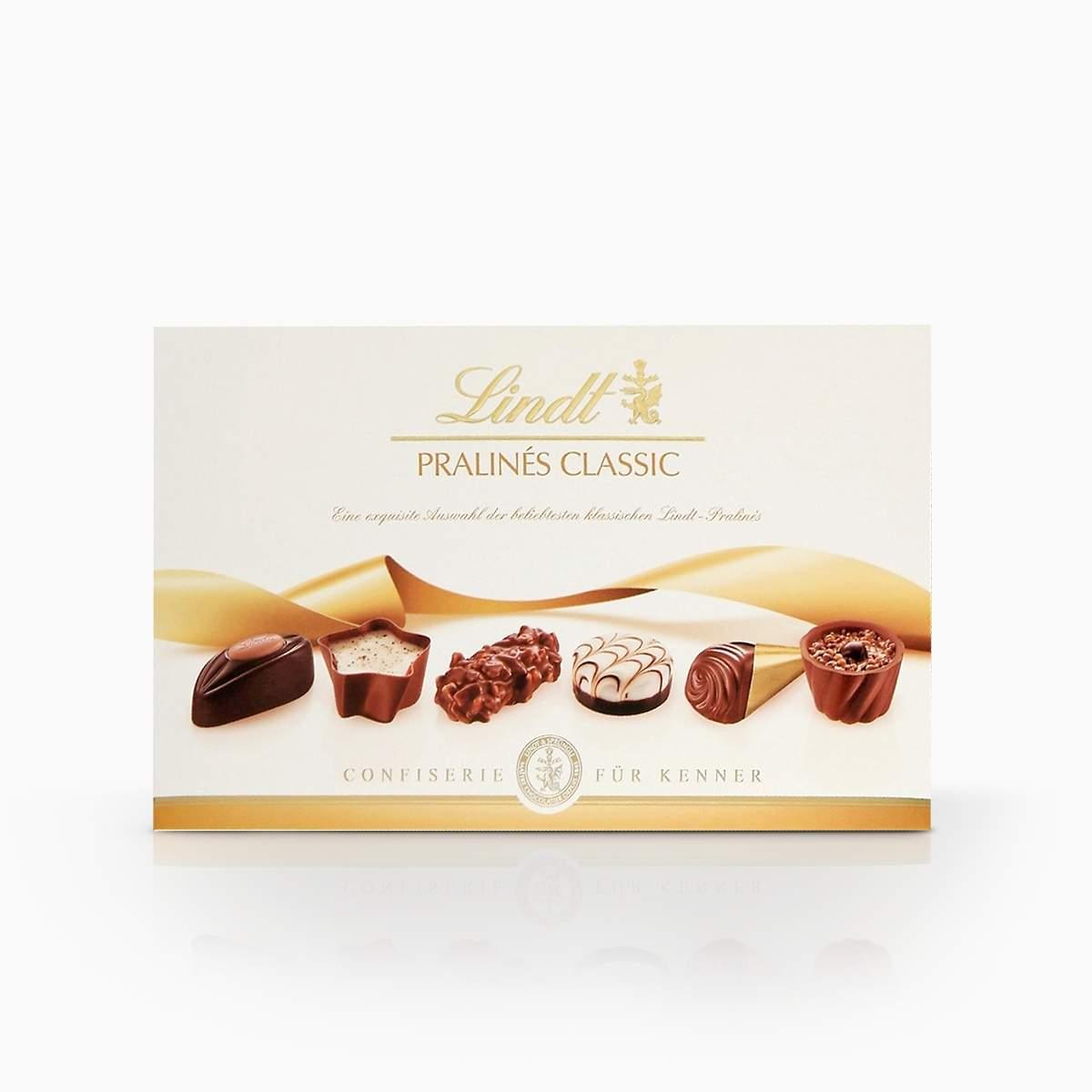 Lindt Pralines Classic zmes plnených bonbónov z mliečnej čokolády 200g