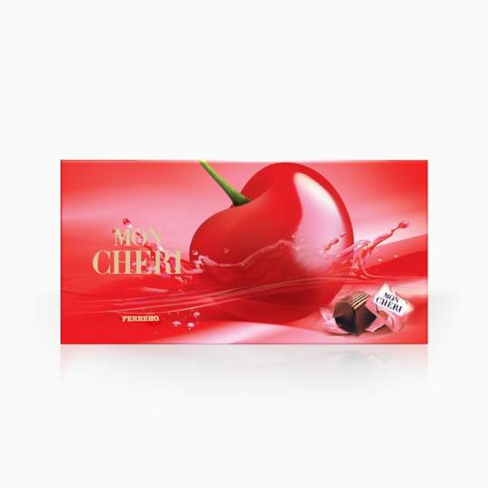 Mon Cheri čokoládové bonbóny plnené celou čerešňovou v likéri 157,5g