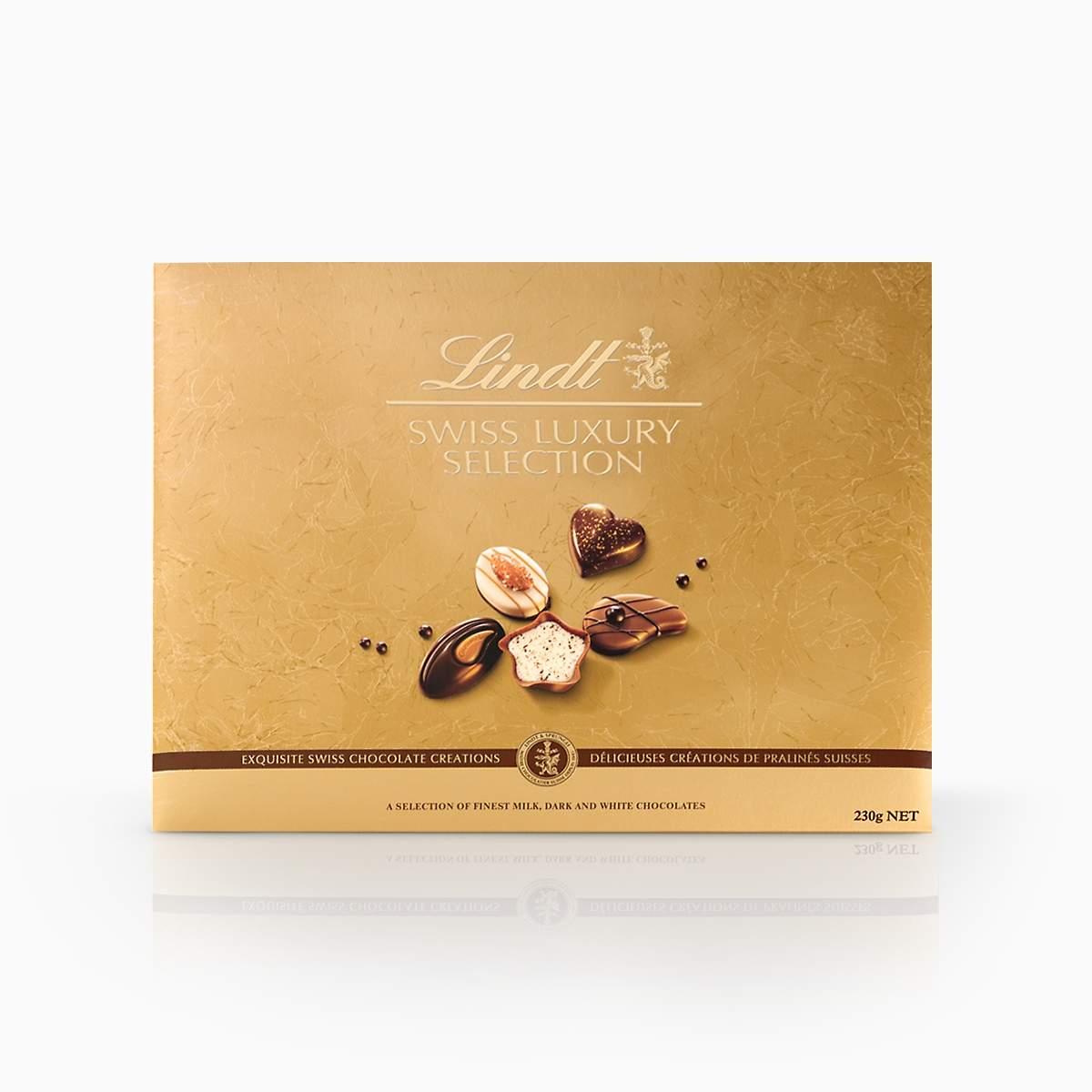 Lindt Swiss Luxury Selection kolekcia švajčiarskych praliniek 230g