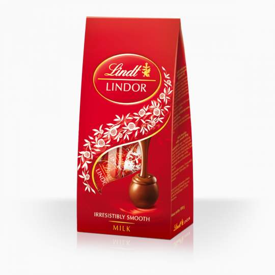 Lindor bonbóny z mliečnej čokolády s mliečnočokoládovou náplňou 100g