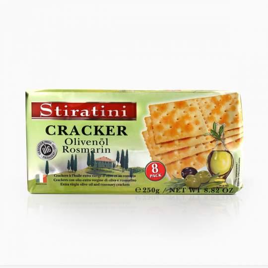 Stiratini Cracker Olivenol Rosmarin slané krekry s olivovým olejom a rozmarínom 250g