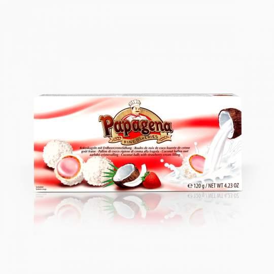 Papagena Waferballs Strawberry 120g