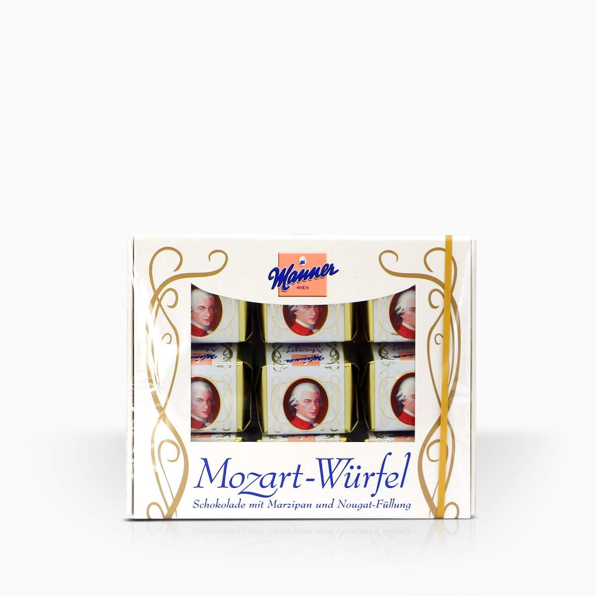 Manner Mozart Würfel bonbóny s marcipánom a nugátom 118g