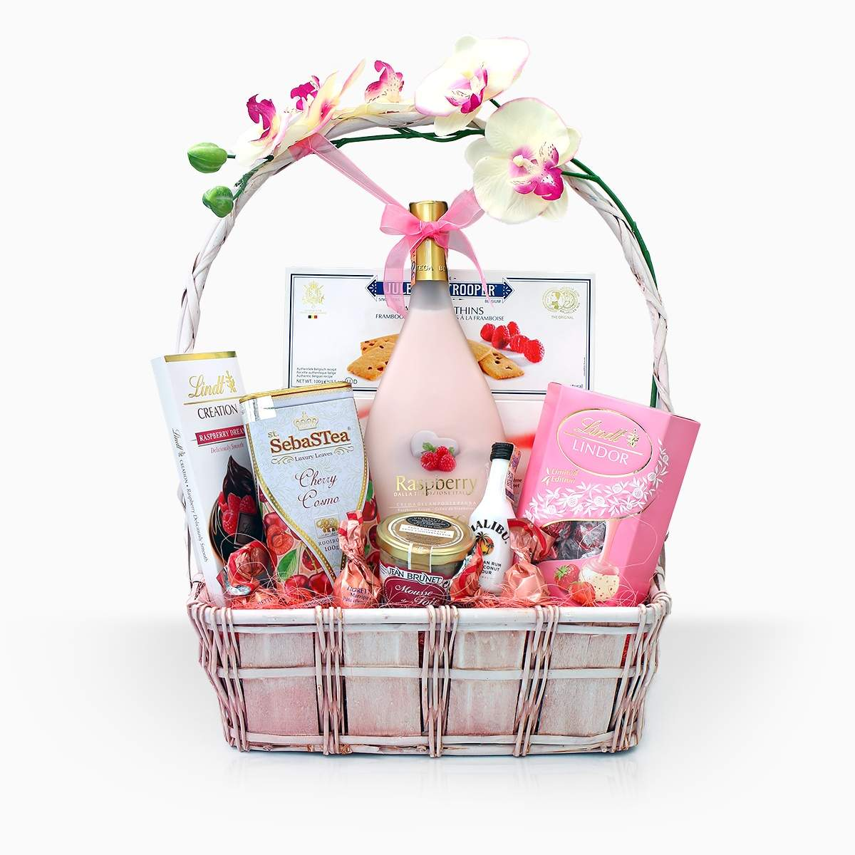 """Gift Basket """"White Orchid"""""""